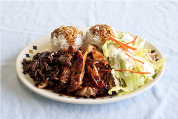 chicken beef teriyaki combo