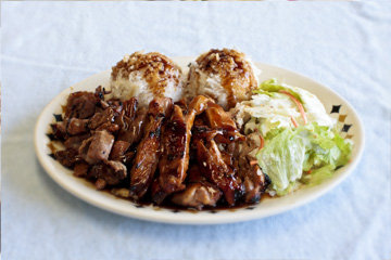 chicken pork teriyaki combo